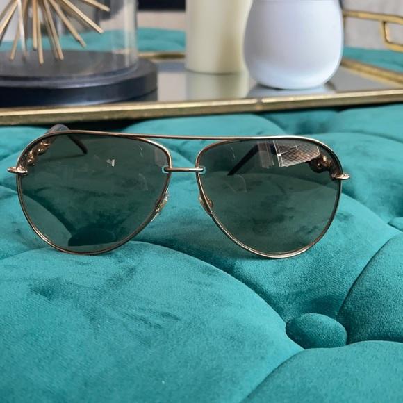 Gucci aviator gold sunglasses